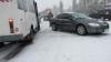 Авария в столице: легковой автомобиль столкнулся с маршрутным такси
