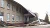 Ветер снес крышу школы в селе Кожушна Страшенского района