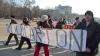 Работники Moldcarton протестовали в центре столицы: заработанного сотрудники предприятия ждут три года