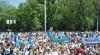 Конфедерация профсоюзов отметила День труда на центральной площади Кишинева (ФОТО)