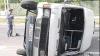 В Тирасполе перевернулся микроавтобус с пятью пассажирами (ФОТО)