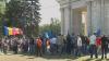 Оппоненты унионистов собрались на ПВНЦ: скандируют лозунги и обвиняют власти