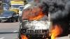 Микроавтобус жителя столицы сгорел дотла