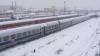 Снегопады не повлияли на движение железнодорожного транспорта