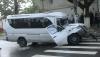 Микроавтобус 117 маршрута попал в аварию: два человека госпитализированы