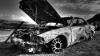 В Кагуле в одном из городских дворов полностью сгорел автомобиль