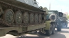В Кишиневе на улице Алба-Юлия застряла военная техника