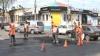 На улице Букурешть накануне проводились ремонтные работы