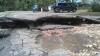 Воскресный дождь повредил 1700 кв.м. асфальта  в Кишиневе