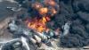 Полиция впервые разрешила журналистам снять место крушения поезда с нефтью