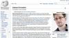 Неизвестный исправил страницу «Википедии» про Сноудена
