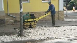 Ремонт перед новым офисом ЛП проводит муниципальное предприятие