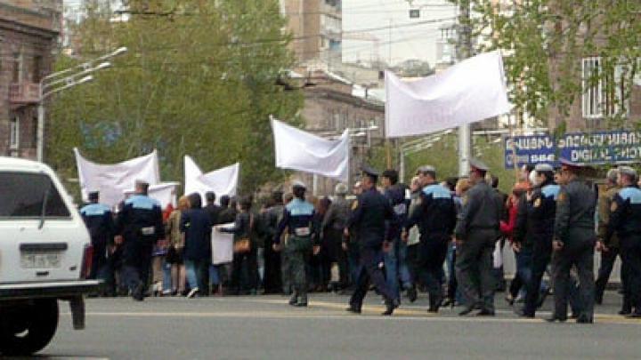 В Ереване проходит акция протеста против вступления Армении в ТС