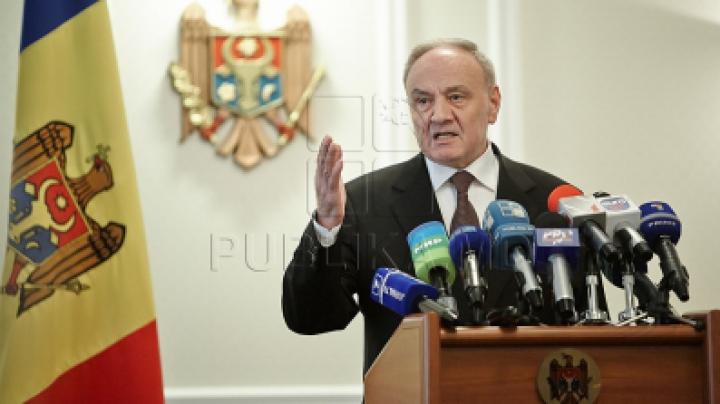 Тимофти на митинге в поддержку европейского курса страны: Молдова принадлежит Европе!