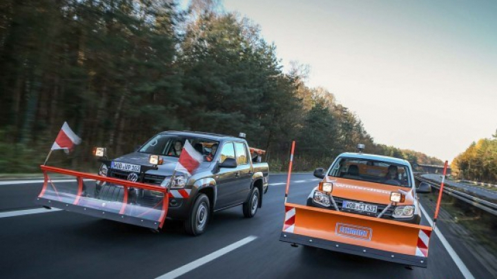 VW Amarok приспособили для уборки снега