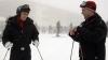 Путин и Медведев покатались на лыжах в Сочи