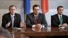 Лидеры правящей коалиции на совместной пресс-конференции (ТЕКСТ ОНЛАЙН)