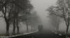 Как водитель грузовика в туман выезжает на встречную полосу (ВИДЕО)
