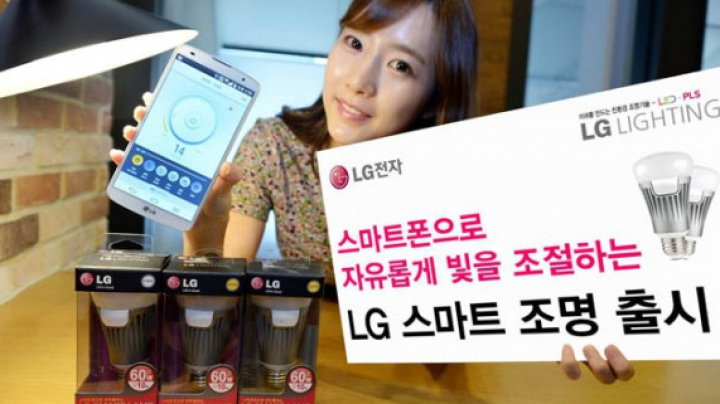 «Умная» лампа от LG может управляться с iPhone и Android-смартфонов
