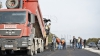 Из-за ремонта дорожного полотна по улице Гагарина в Кишиневе образовался затор (ФОТО)