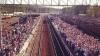 Столпотворение людей на перронах в Подмосковье из-за железнодорожной аварии