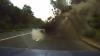 Водитель из Донецка снял на видео, как снаряд взрывается в метре от его машины