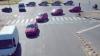 Безумный перекресток: танец автомобилей и велосипедов (ВИДЕО)