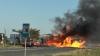 В центре Чимишлии перевернулся и загорелся грузовик, который перевозил спирт (ФОТО/ВИДЕО)