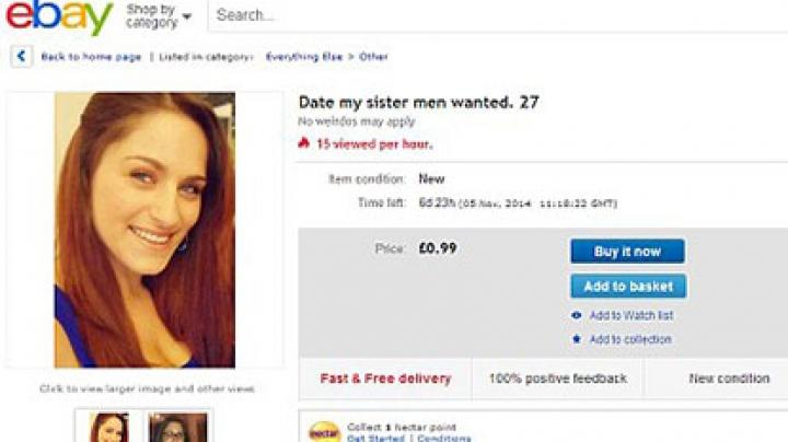 Англичанин выставил сестру на аукцион в попытке найти ей мужа
