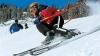 Отличный день в горах Румынии: горнолыжники буквально летают на трассе