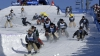 Более 100 профессиональных ковбоев приняли участие в скоростном спуске на лыжах