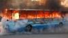 Вблизи от Бельц загорелся пассажирский автобус (ВИДЕО)