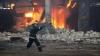 На одном из столичных предприятий вспыхнул пожар (ВИДЕО)
