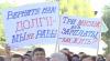 Сотни работников ГП «Железная дорога Молдовы» вышли на протест в  Басарабяске