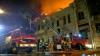 Ночной пожар в центре столицы: загорелась крыша ресторана