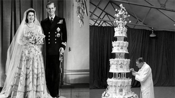 Кусок свадебного торта Елизаветы II признали съедобным и продали за полмиллиона фунтов