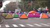 Протестующие заблокировали часть центра Кишинева (ФОТО)