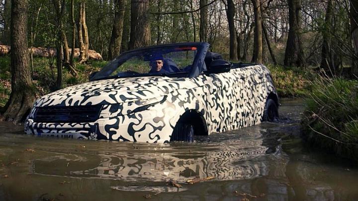Land Rover вывел на бездорожье кроссовер Evoque без крыши (ВИДЕО)