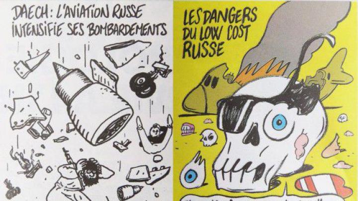 Charlie Hebdo поглумился над жертвами авиакатастрофы в Египте