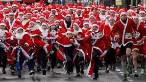 В Кишиневе прошел забег Дедов Морозов