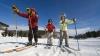 Группа молодых людей совершила лыжную прогулку вдоль Днестра