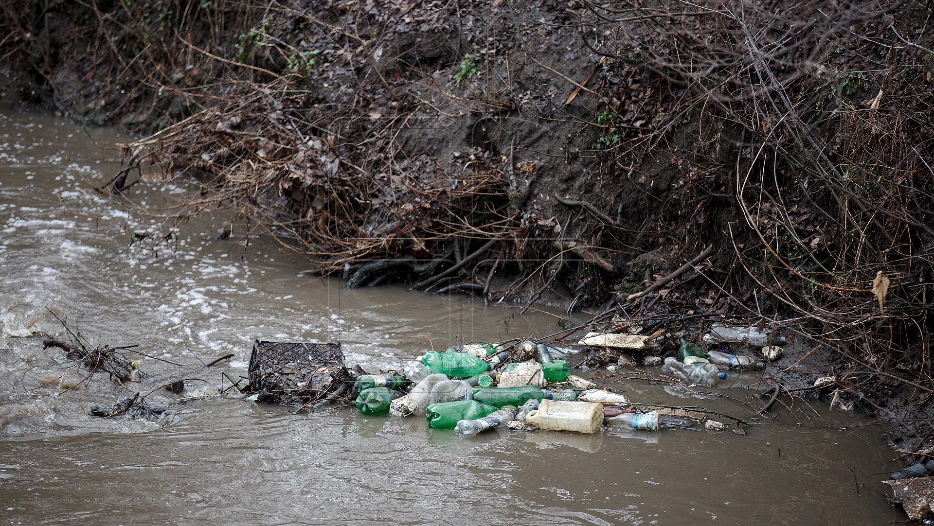 мусором картинка реки с берег
