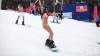 В Саратовской области сноубордистки вышли на состязание в купальниках (ВИДЕО)