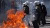 В Греции акция протеста переросла в беспорядки