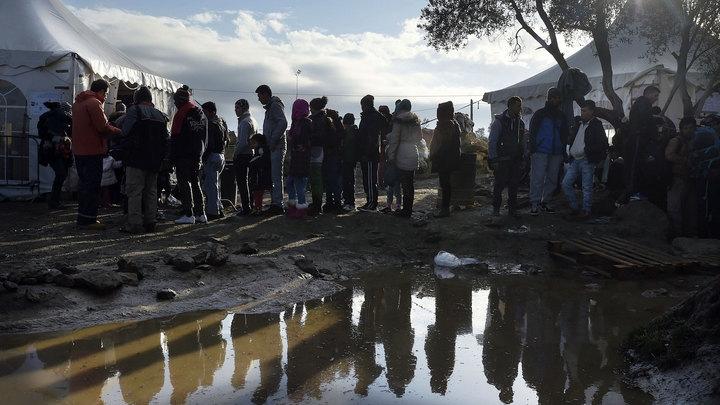 На границе Греции и Македонии скопились пять тысяч беженцев