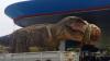 Грузовик с тираннозавром застрял в пробке в Бангкоке (ВИДЕО)