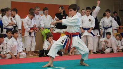Показательная тренировка по карате прошла в столице в парке Валя Морилор