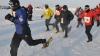 Марафон на Северном полюсе: участники бежали при -41 градусе