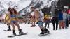 """Более тысячи лыжников в купальниках спустились со склонов курорта """"Роза Хутор"""""""