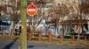 На Петриканской улице фонарный столб упал на высоковольтные провода